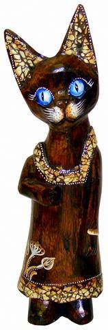 Деревянная фигурка 'Жена рыбака' 30см.