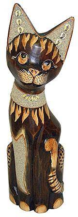 Фигурка 'Кошка Икки с декором из песка' 35см.