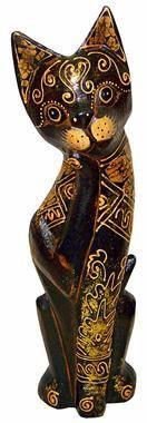 Деревянная фигурка кот Олекс 25см.