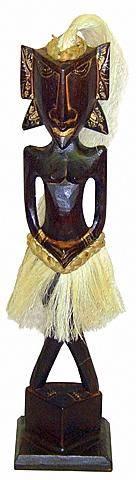 """Статуэтка """"Танцовщица"""", девушка в юбке из абаки, 50см."""