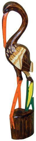 Фигурка Цапли из дерева 60cм.