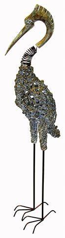 Ландшафтная фигурка для дачи Аист 120 см