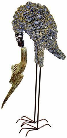 """Фигура из металла """"Аист - сакральная птица"""" 110cм."""