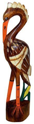"""Деревянная фигурка """"Аист - сакральная птица"""" 40cм."""