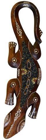 """Панно настенное """"Геккон"""", выполнено в виде тропической ящерицы 50см."""