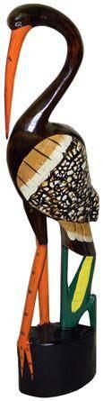 Фигурка Цапля из дерева 60cм.
