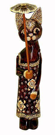 Статуэтка 'Кошечка Виньетта с зонтиком  60см.